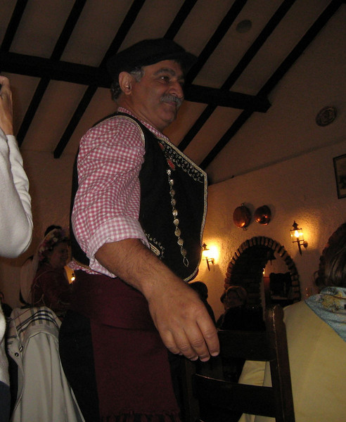 Corfu, Greece - Folk dancing during lunch at Aghios Giannai