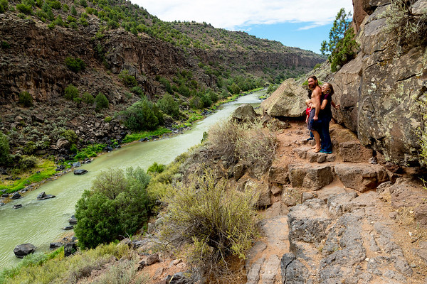 JULY 15, 2018 NEW MEXICO: BLACK ROCK HOT SPRINGS ALONG THE RIO GRANDE