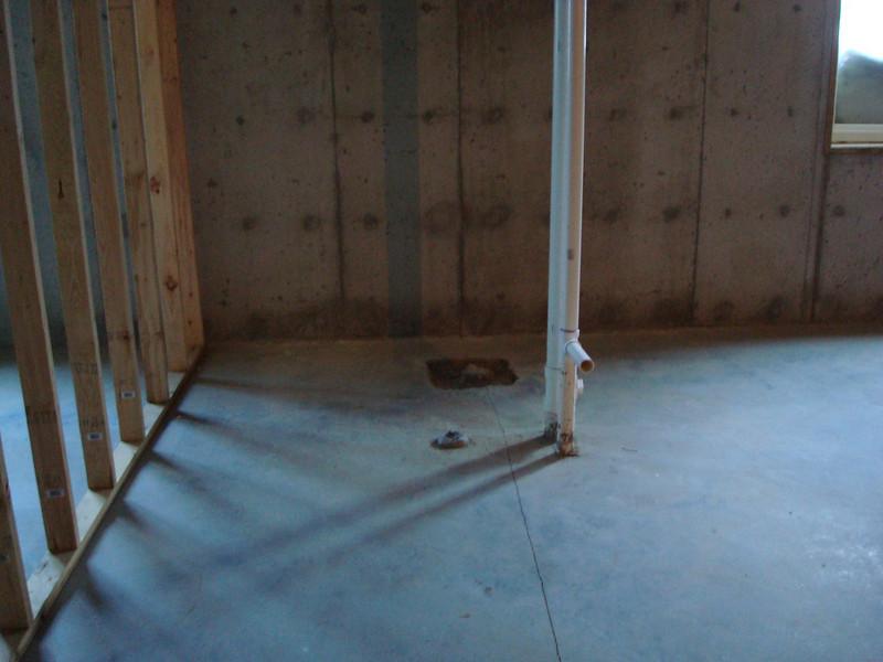Basement, potential bathroom