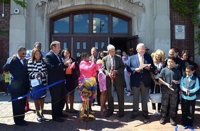 Mayor Warren attended the grand re-opening of School #5. 8/28/2014