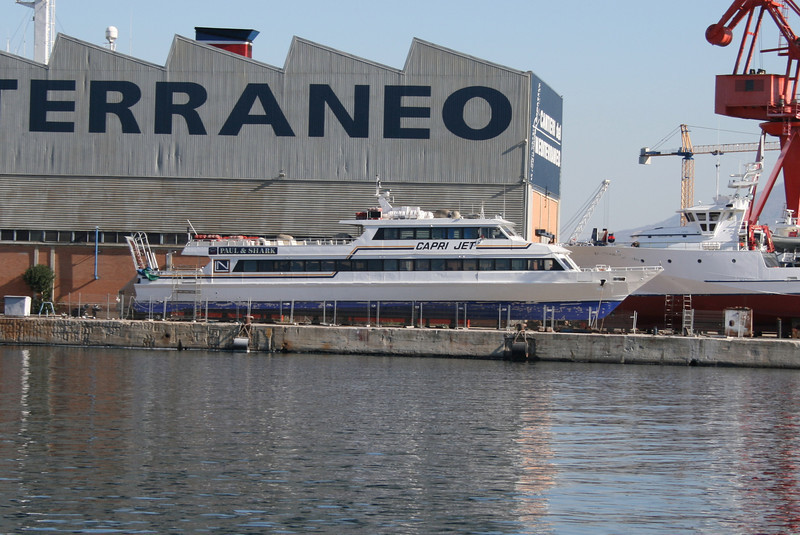 2008 - CAPRI JET in dry dock in Napoli.