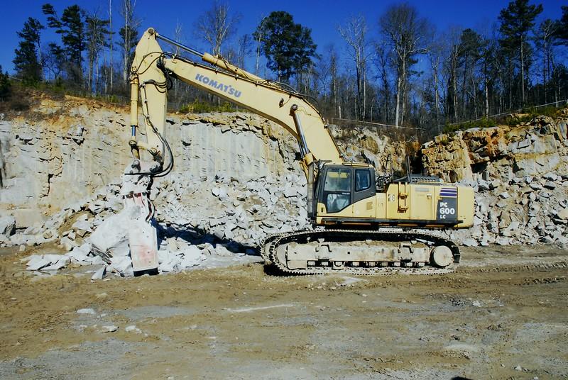 NPK GH23 hydraulic hammer on Komatsu excavator - Vulcan Materials -  Villa Rica Quarry, GA  1-18 (1).JPG