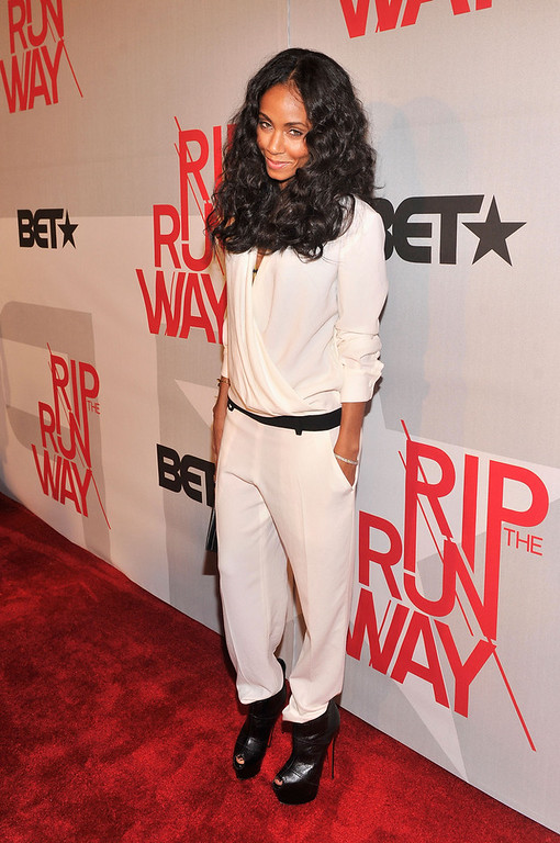 . Actress Jada Pinkett Smith attends BET\'s Rip The Runway 2013:Red Carpet at Hammerstein Ballroom on February 27, 2013 in New York City.  (Photo by Stephen Lovekin/Getty Images for BET\'s Rip The Runway)