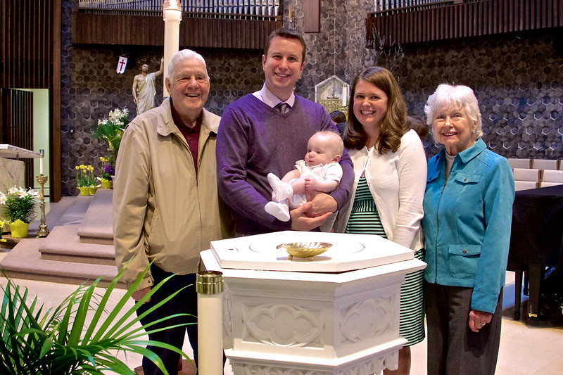 At the Baptism of Alexander James, with Great-Grandparents