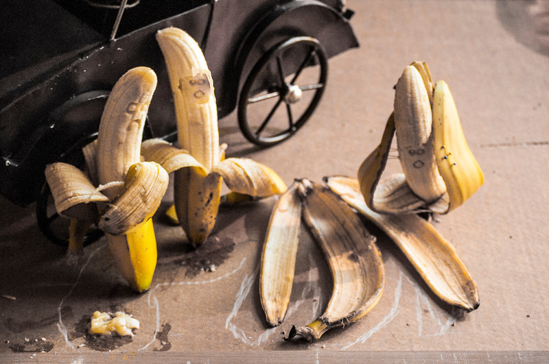 Banana the scene of the crime