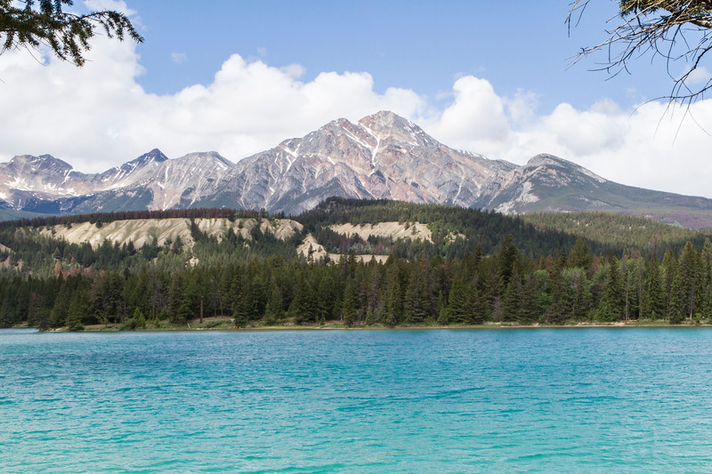 Lake Annette with Pyramid Mountain, Jasper