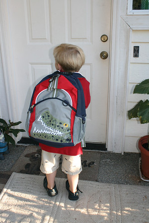 Ben's first day of preschool