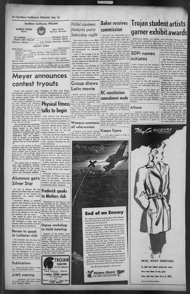 The Trojan, Vol. 35, No. 86, February 16, 1944