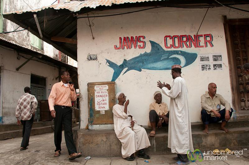 Jaws Corner Conversation - Stone Town, Tanzania