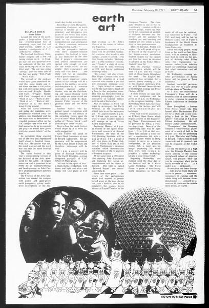 Daily Trojan, Vol. 62, No. 71, February 18, 1971