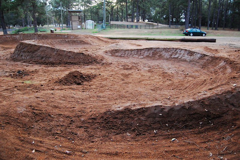 Looking back toward the BMX track.