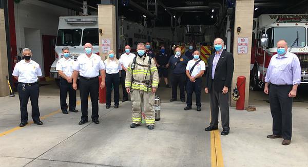 2020-09-01 - Casten Visits Fire Dept