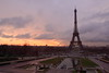 The Eiffel Tower in Paris, France at sunrise. © 2005 Kenneth R. Sheide