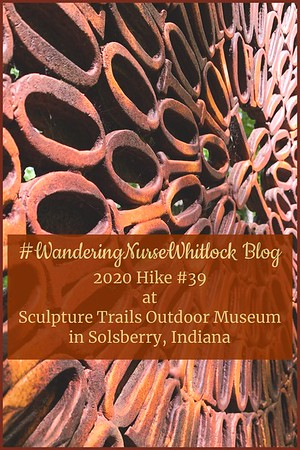 2020 Hike #39 on August 30th at Sculpture Trails Outdoor Museum in Solsberry Indiana