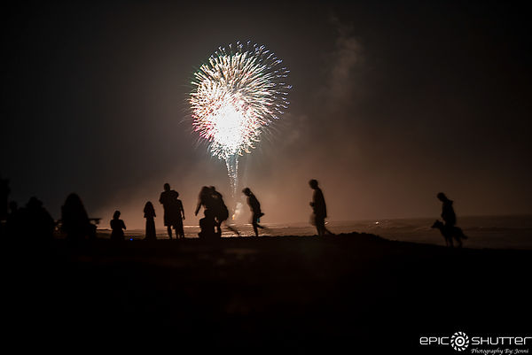 July 4, 2021, South Avon, Waves, Fireworks Avon Pier,