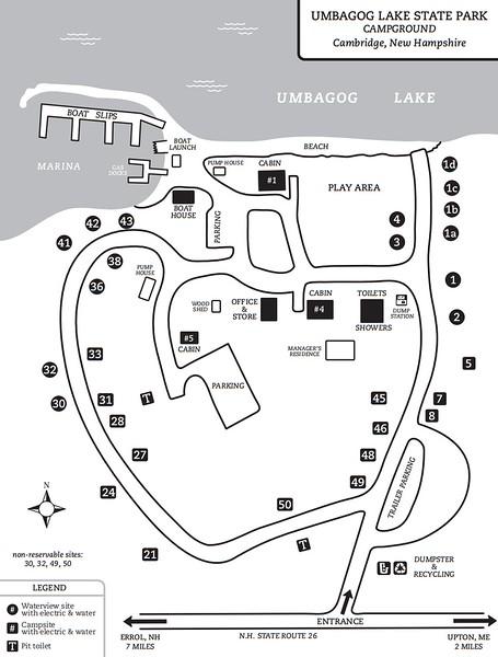 Umbagog Lake State Park (Campground Map)