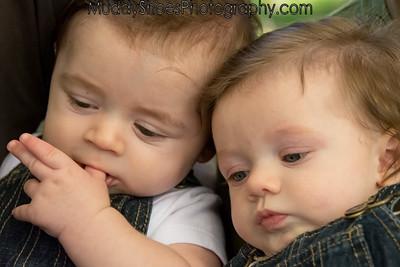 Finkbeiner Twins - 4 months