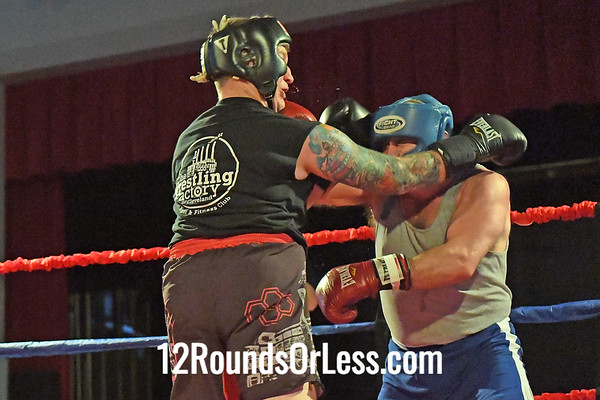 Bout 8 Bryan Gedeon, Black Gloves, Wrest;ing Factory BC, Lakewood -vs- Ed Boehner, Red Gloves, Conn BC, Pittsburgh, PA, 201+ Lbs, Masters
