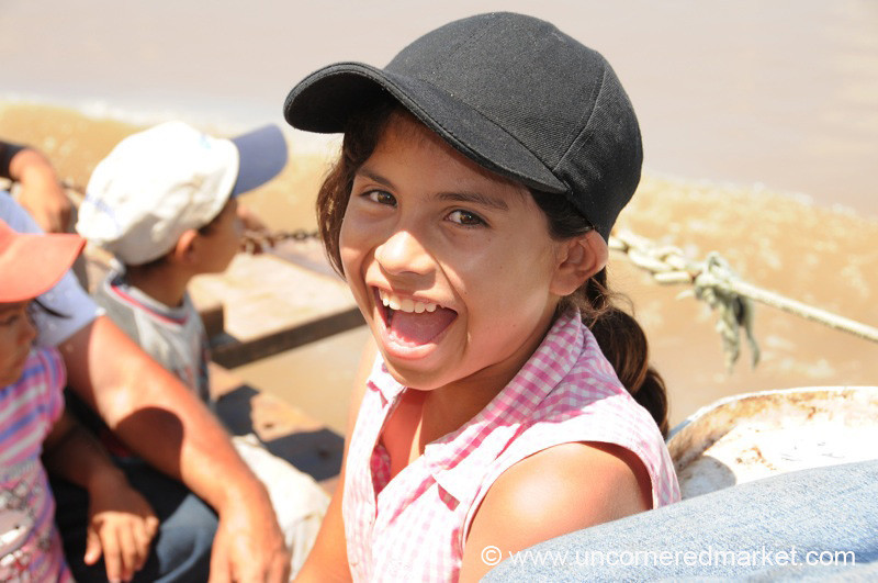 Excited on the Front of the Boat - Concepcion to Vallemi on the Rio Paraguay
