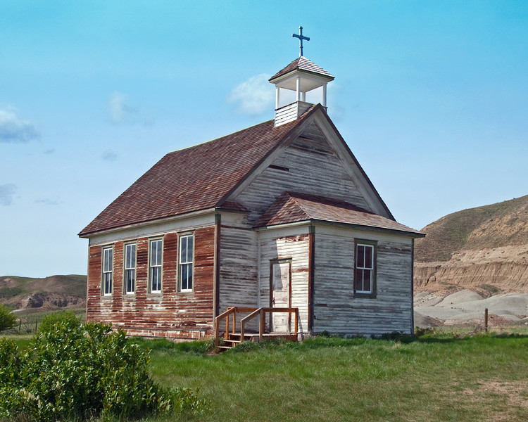 Church in the Alberta Badlands