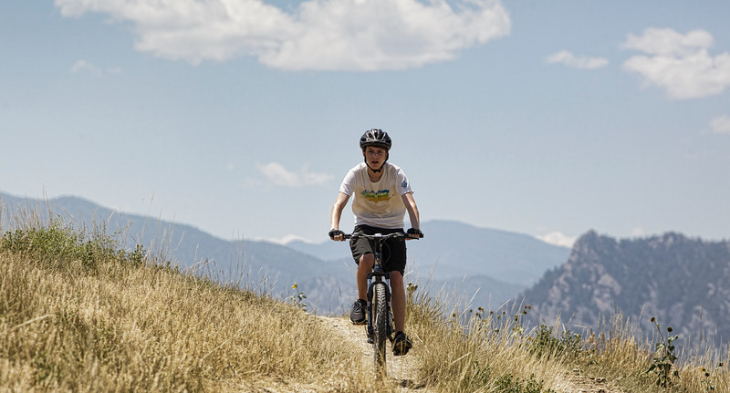 Community Ditch Trail south of Boulder with Eldorado Canyon in the distance 7-21-2013