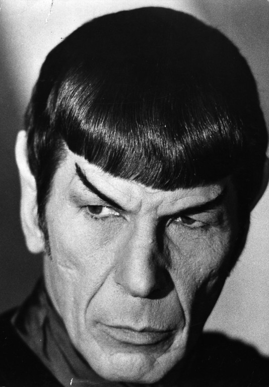 . US actor, producer and director Leonard Nimoy as Mr Spock from the TV series \'Star Trek\'.   (Photo by Bertil Unger/Getty Images)