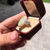 5.01ct Art Deco Opal and Diamond Ring 18