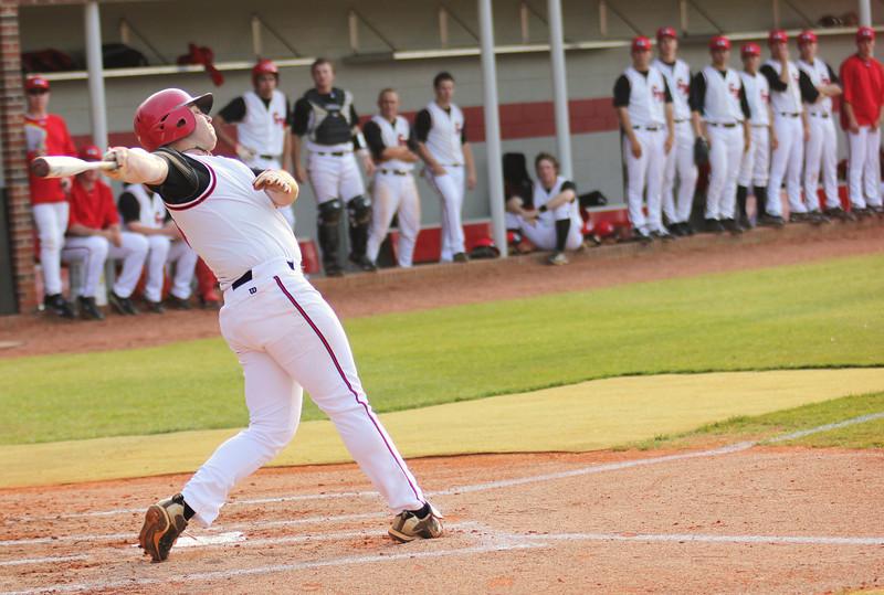 #15 Dusty Quattlebaum bats against Charleston Southern.