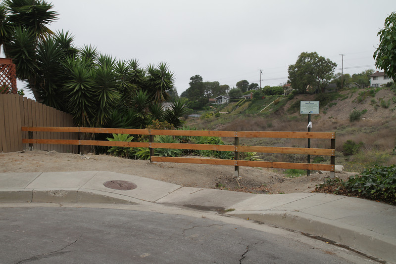 New fence on Rock Park.
