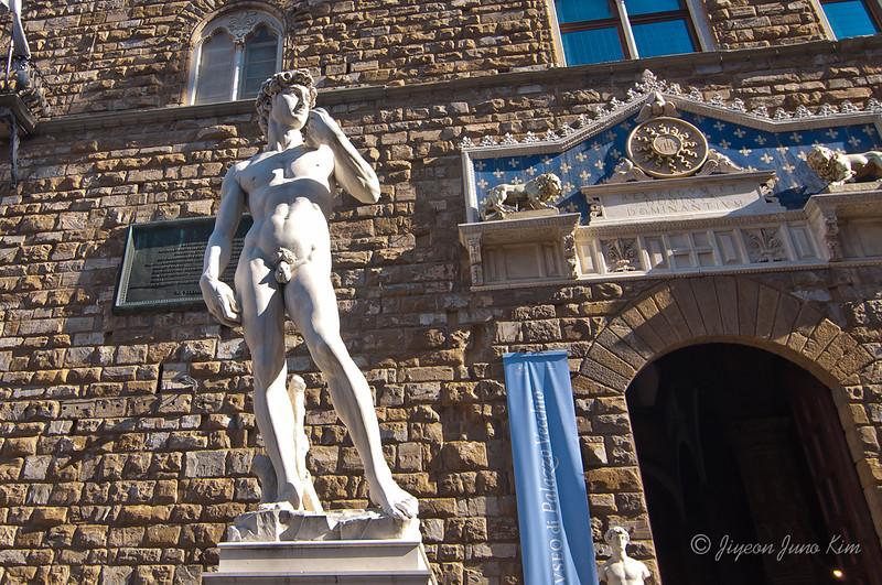 Michelangelo's David at Palazzo della Signoria