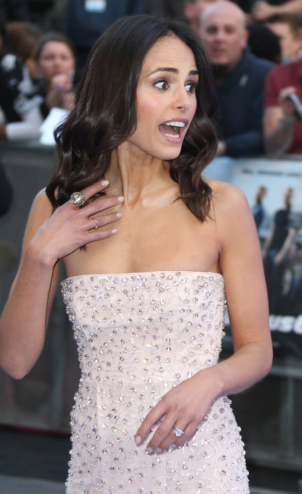 . Actress Jordana Brewster arrives for the World Premiere of Fast & Furious 6, at a central London cinema in Leicester Square, Tuesday, May 7, 2013. (Photo by Joel Ryan/Invision/AP)