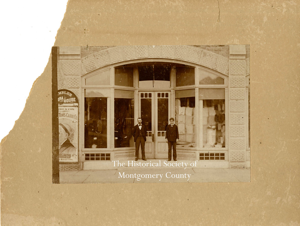 . This undated photo from the Historical Society of Montgomery County shows the front entrance to the Ambler Opera House, which stood on Butler Avenue in Ambler.