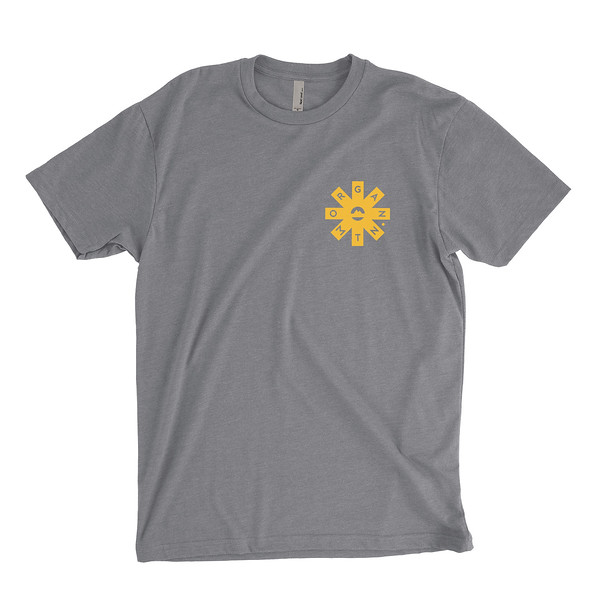 Organ Mountain Outfitters - Outdoor Apparel - Mens T-Shirt - Organ Mtn Lost & Found Tee - Dark Grey Heather Front.jpg