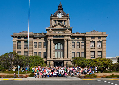 Grays Harbor County Court House 100 year photo