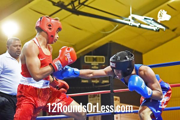 11=Bout 11:   Destyn Hopkins, Soul City B.C.   vs.   Khalil Osaze, unattached,   125 Lbs.
