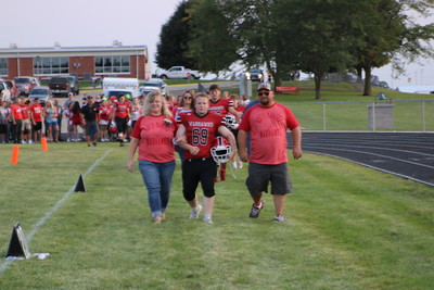 Parents Night Football, cheer, trainers/ managers