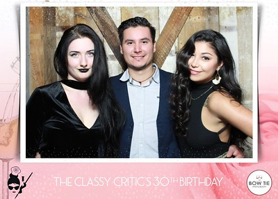 The Classy Critic's 30th Birthday Soiree