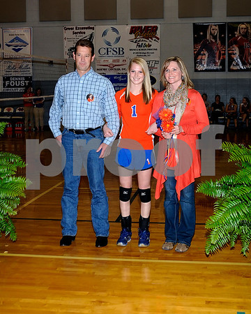 Marshall County High School Volleyball Senior Night, September 25, 2012.