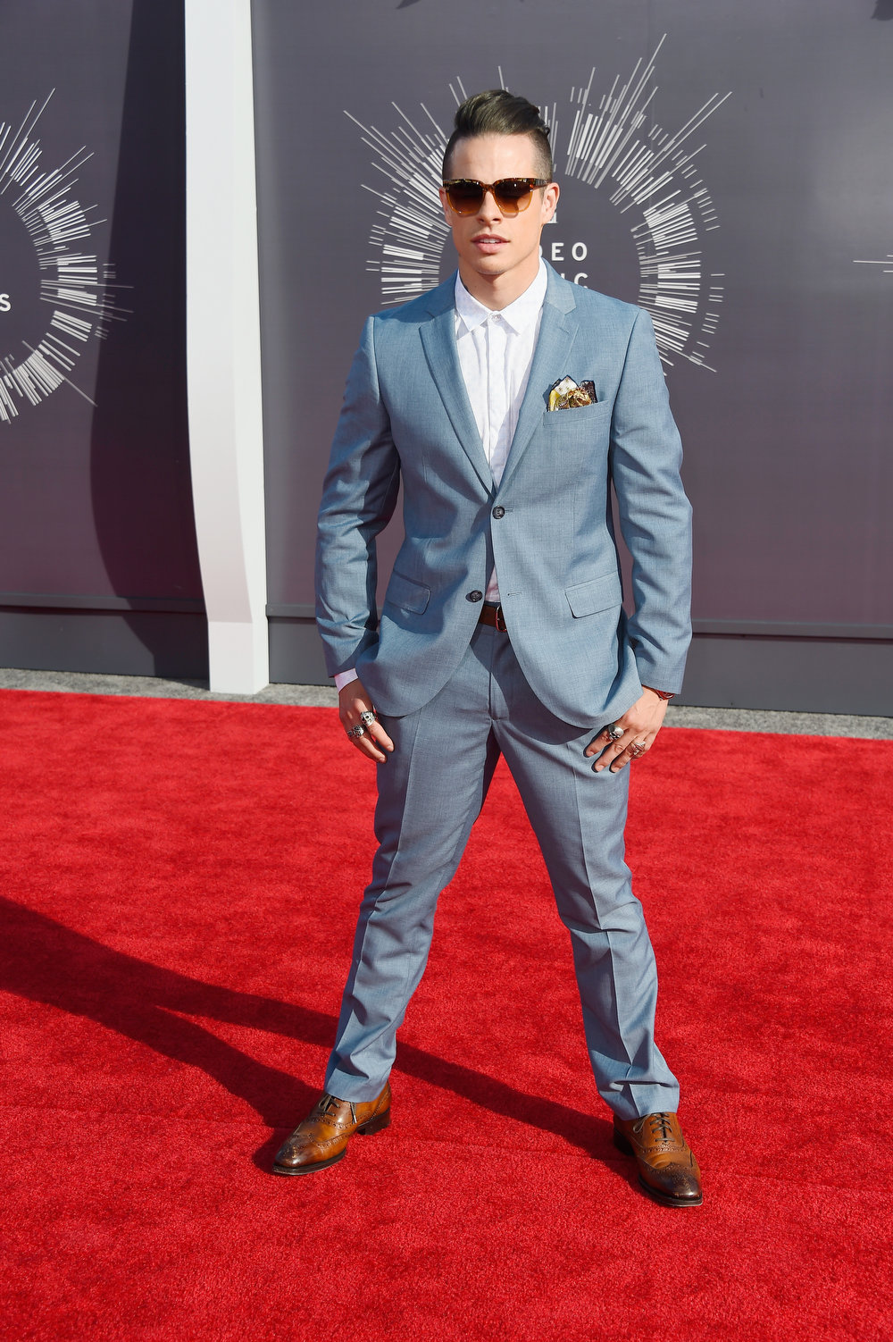 . Dancer Casper Smart attends the 2014 MTV Video Music Awards at The Forum on August 24, 2014 in Inglewood, California.  (Photo by Frazer Harrison/Getty Images)