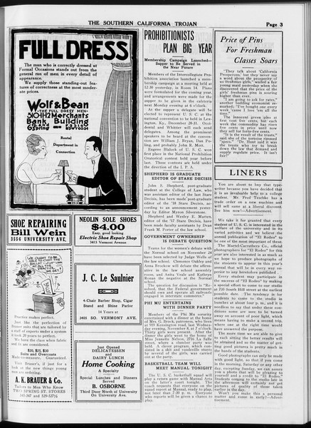 The Southern California Trojan, Vol. 8, No. 32, November 15, 1916