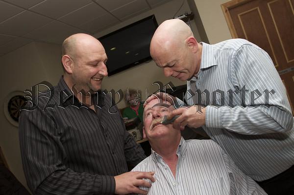 Charity Night in aid of Macmillan Nurses. Malchy Rafferty Moustashe Shave.10W45N713