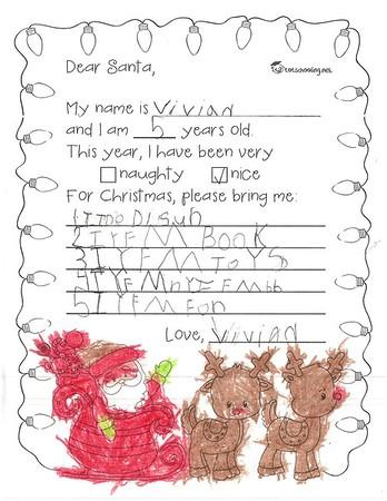 Letters to Santa, Mrs. Richardson's Kindergarten, 12/19/2017
