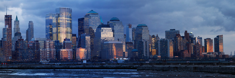 Sunset, lower Manhattan