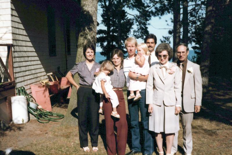 1982 25th anniversary, Vicky, Margie, Raelyn, Joe, Betsy, Keven, Sandy, Lloyd Konyha.jpeg