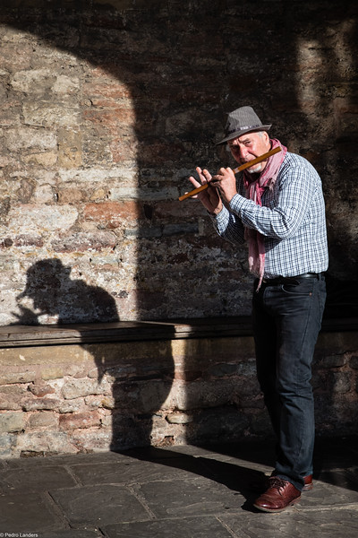 Wells Busker and His Shadow