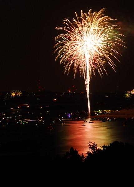 Fireworks Over Lake Travis