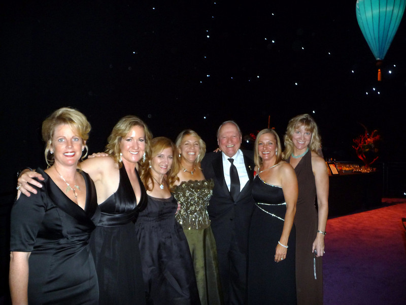 A picture with the Governor of the Film Academy, Conrad Bachman....Lisa Wan, Debby Meredith, Joya Reines, Michealene Risley, Kathy Fitzgerald, and Andy Hutchinson...Kelly Hunsaker and Juanita Brooks were off roaming the party.