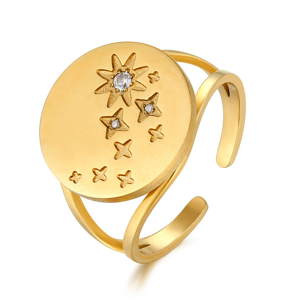 Stardust ring, Gold