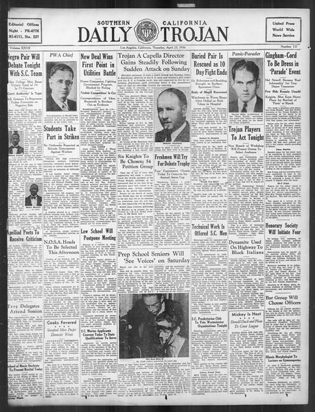 Daily Trojan, Vol. 27, No. 121, April 23, 1936