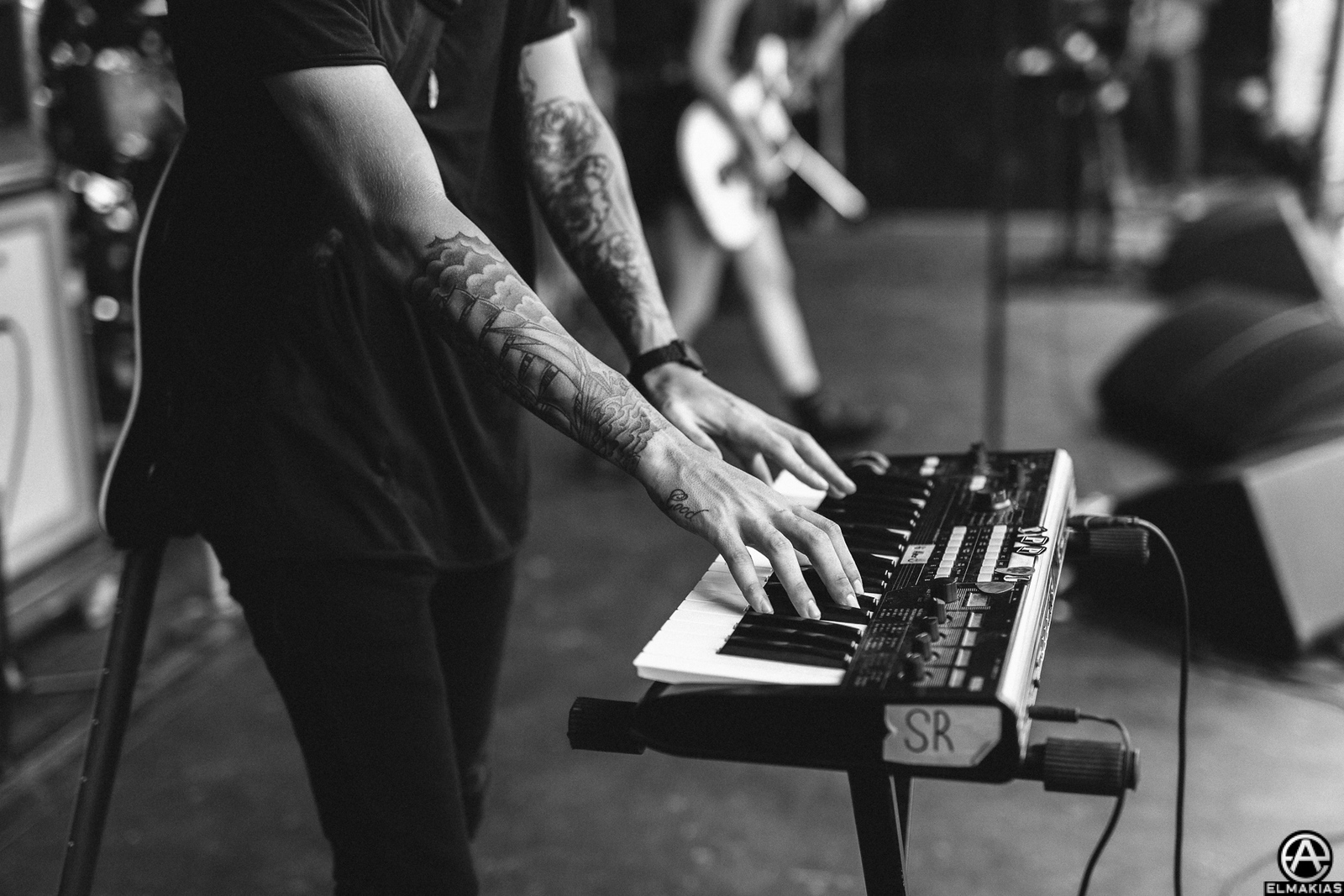 Alex Babinski of PVRIS live at Vans Warped Tour 2015 by Adam Elmakias
